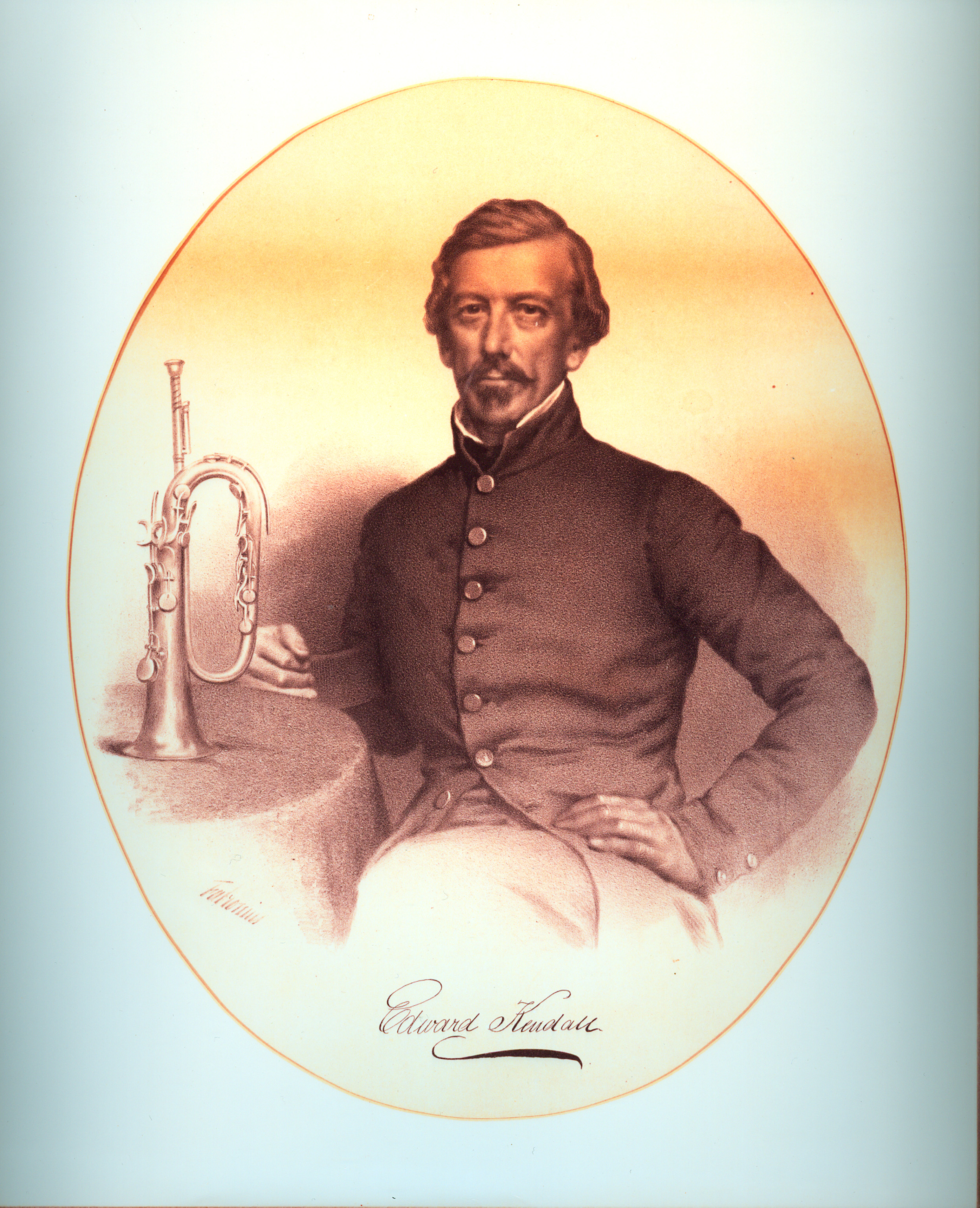 Ned Kendall portrait with keyed bugle